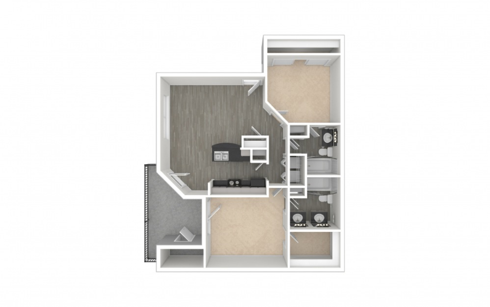 O'Keefe 2 bedroom 2 bath 1131 square feet (1)