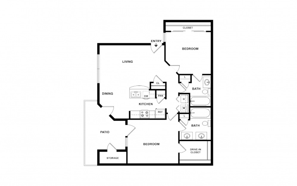 O'Keefe 2 bedroom 2 bath 1131 square feet (2)