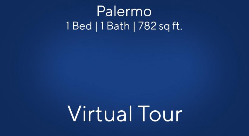 Palermo Floor Plan, 1bed/1bath, 782 sq ft