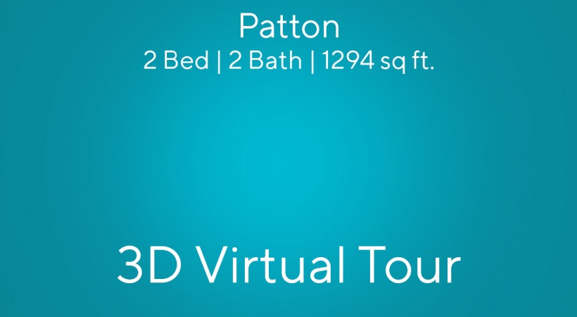 """This virtual apartment tour of our 2 bedroom apartment in Charlotte, NC shows you the """"Patton"""" floor plan"""