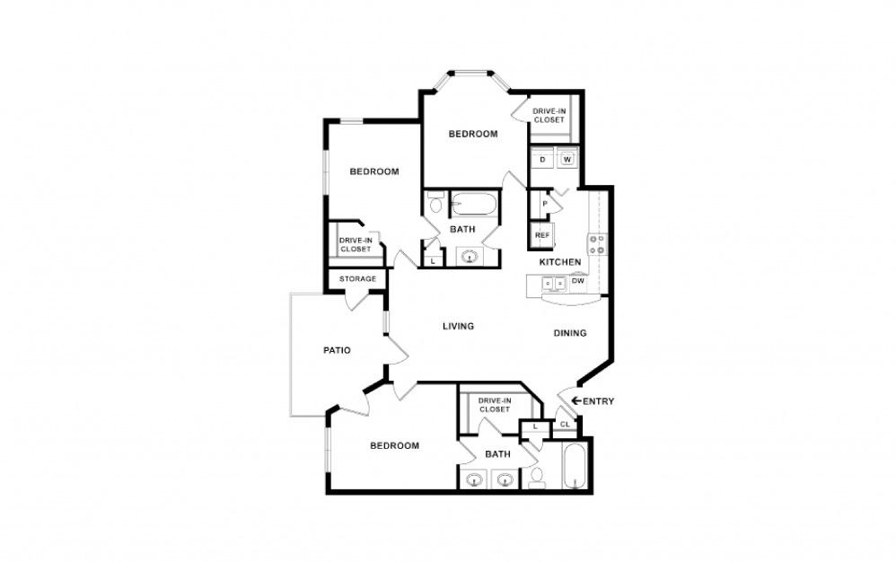 Remington 3 bedroom 2 bath 1337 square feet