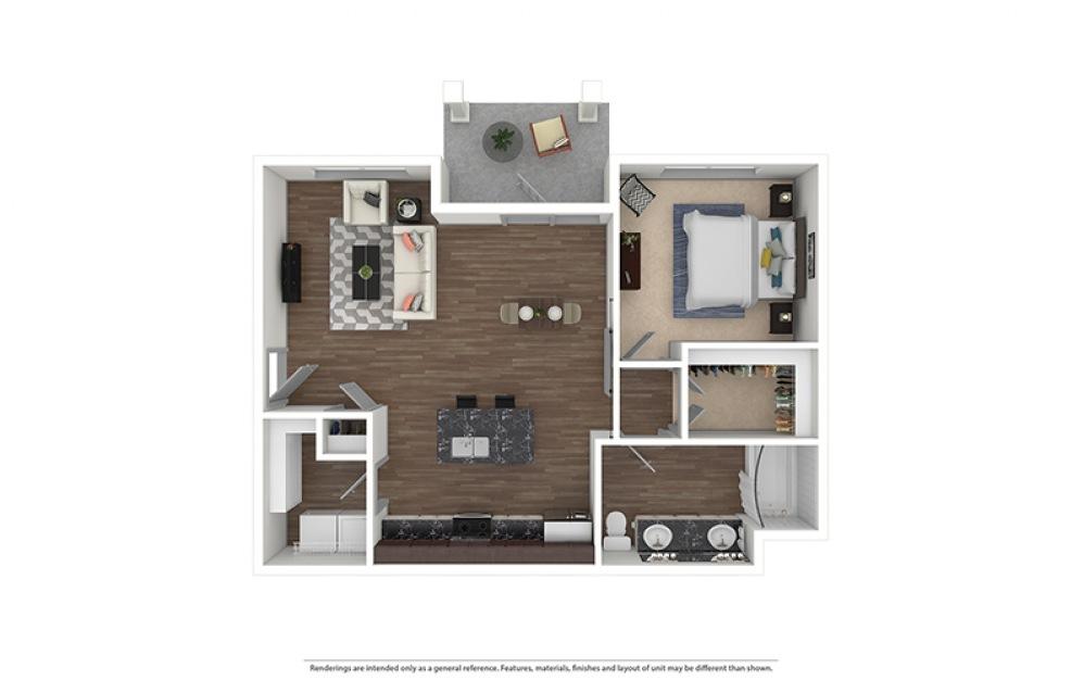 A7 Furnished Rendering | Riverside