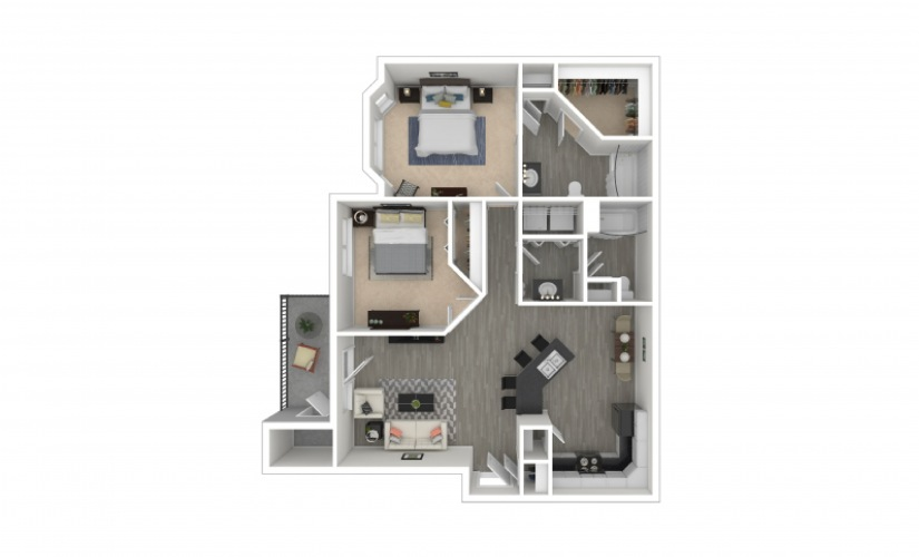 Rockwell 2 bedroom 2 bath 995 square feet