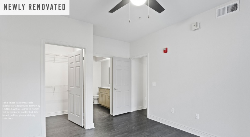 Newly Renovated Bedroom with Wood-Style Flooring*