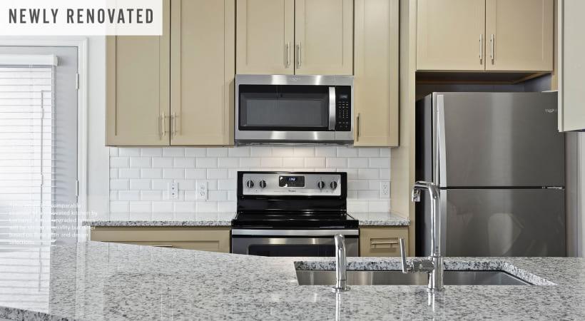 Newly Renovated Kitchen with Designer Tile Backsplash*