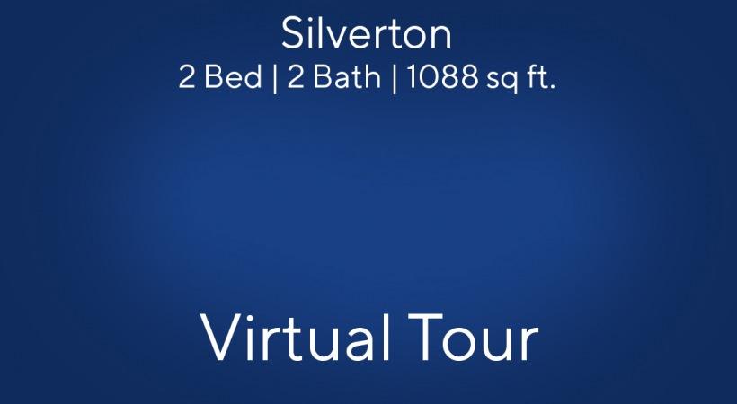 Silverton Floor Plan, 2bed/2bath, 1088 sq ft (Flats side)