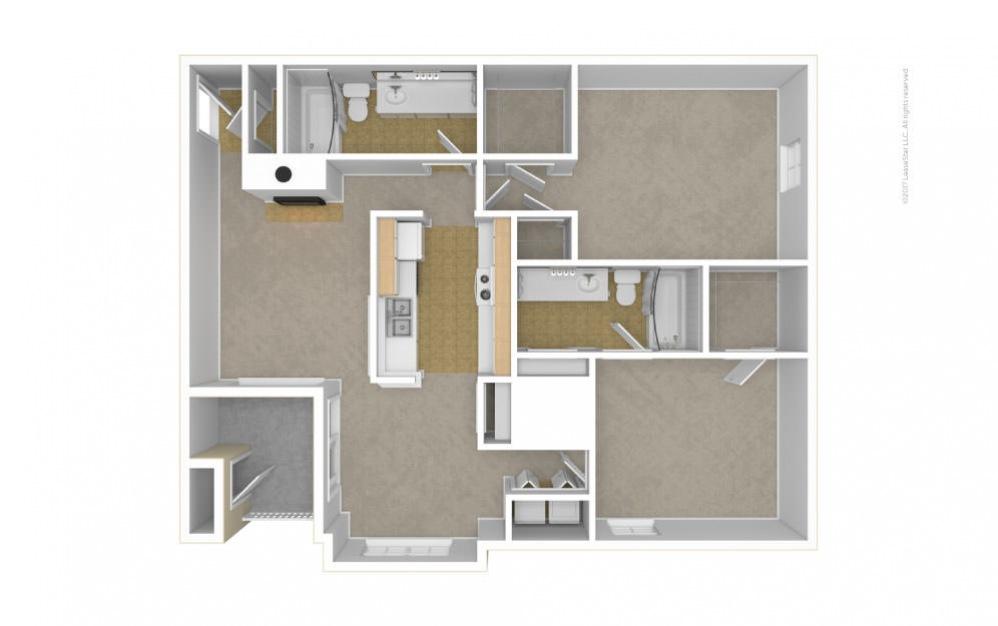 The Somerset Floor Plan—3D