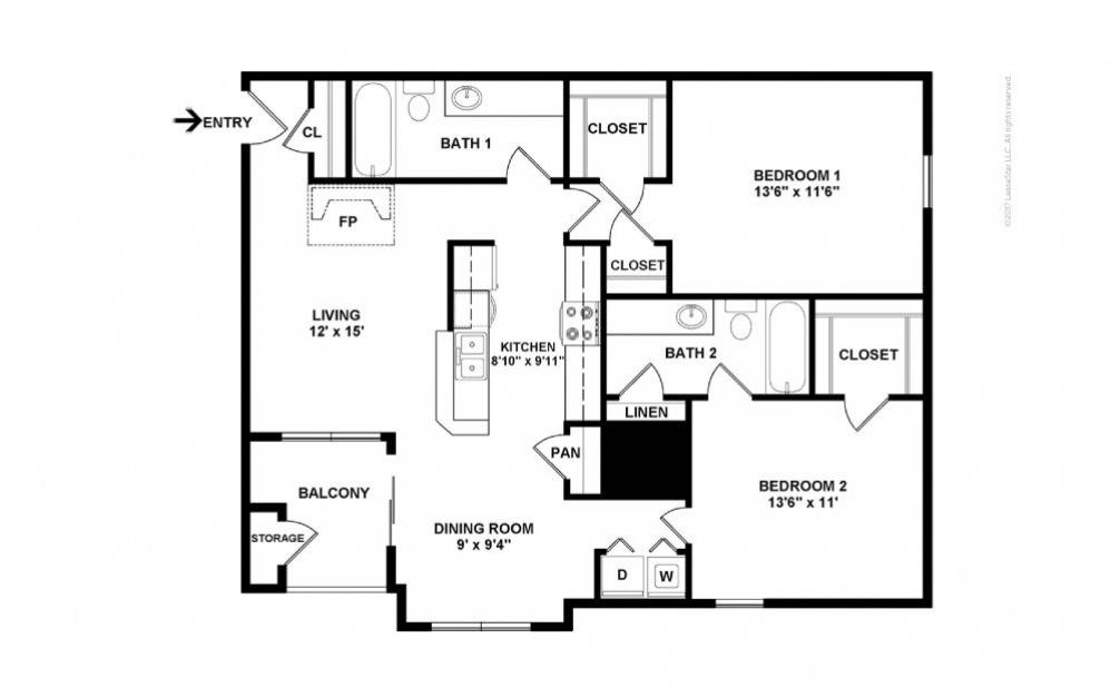 The Somerset Floor Plan—2D
