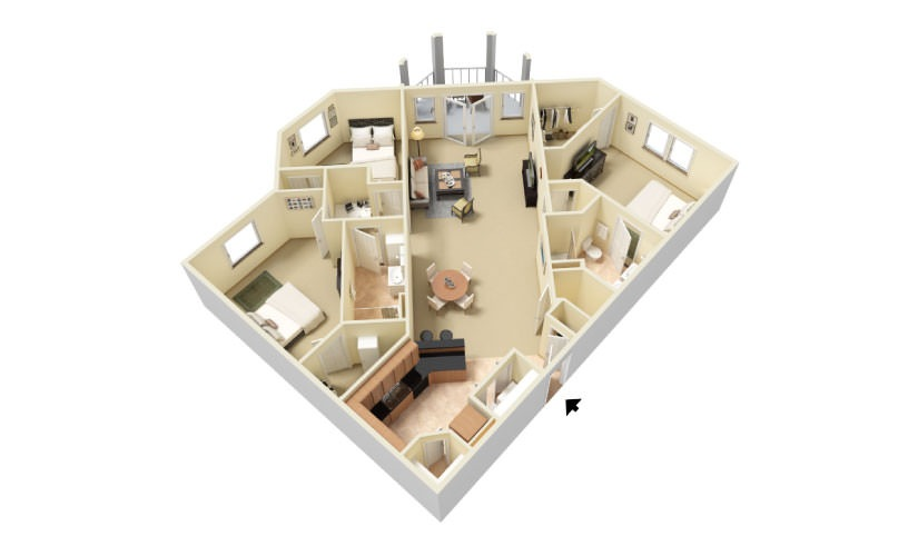 The Harborside Floorplan