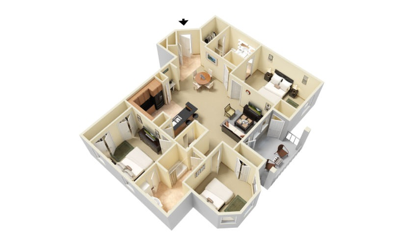 The Tidewater Floorplan