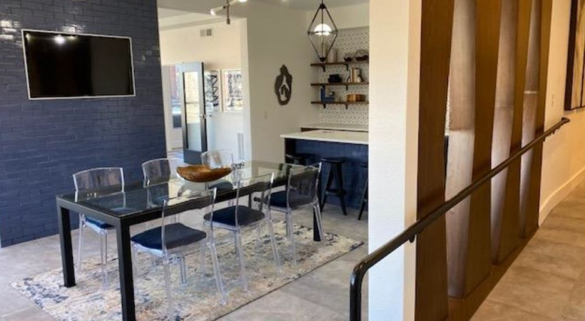 Newly renovated resident clubhouse at our  modern apartments near Lone Tree, CO