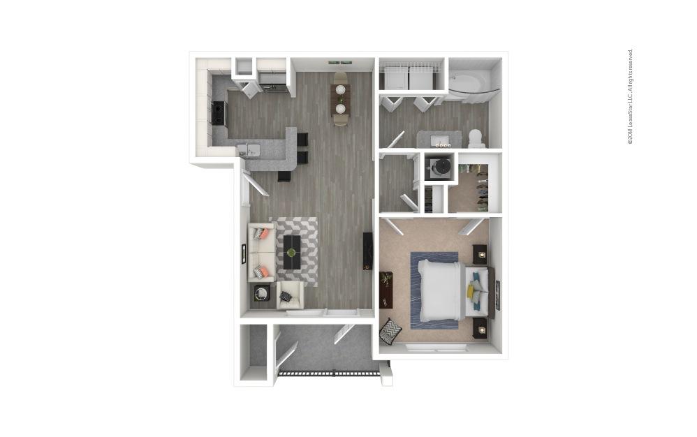 A2 - Westway 1 bedroom 1 bath 678 square feet